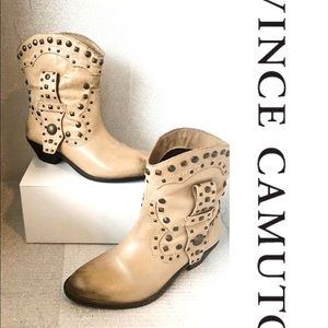 Vince Camuto Tan Leather Studded boot
